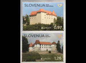 Slowenien Slovenia 2017 Nr. 1249-50 Europaausgabe Burgen und Schlösser