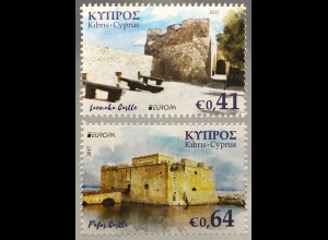 Zypern griechisch Cyprus 2017 Nr. 1373-74 A Europaausgabe Burgen und Schlösser