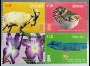 Vereinte Nationen UNO Wien 2017 Nr. 979-82 Geschützte Arten Tierschutz Fauna
