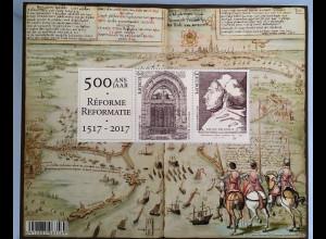 Belgien 2017 Block 213 500 Jahrestag der Reformation Martin Luther Wittenberg