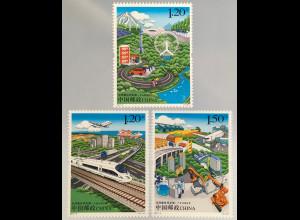 VR China 2017 Nr. 4876-78 Entwicklung Beijing Tianjin Hebel Illustrationen