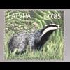Lettland Latvia 2017 Michel Nr. 1018 Europäischer Dachs Fauna Tiere Waldbewohner
