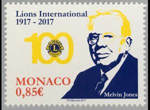 Monako Monaco 2017 Nr 3351 100 Jahre Lions Club International Melvin Jones