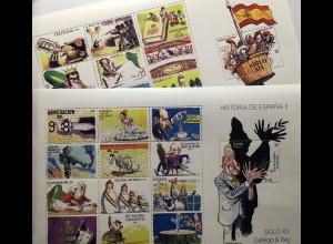 Spanien España 2017 Block 290 + 291 Geschichte Spaniens 19. und 20. Jahrhundert