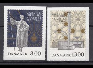Dänemark 2011 Michel Nr.1648-49 BA **, 250. J. Arabische Reise Carsten Niebuhr