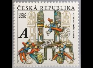 Tschechische Republik 2017 Nr. 933 Freimarke Rohrpost