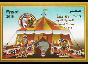 Ägypten Egypt 2016 Neuheit Nationalzirkus Clowns Elefanten