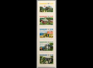 Dänemark Denmark 2017 Michel Nr. 1924-28 Landestypische Ferienhäuser Urlaub