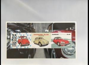 Dänemark Denmark 2017 Block 68 Oldtimer Historische Automobile BMW Isetta Käfer