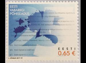 Estland EESTI 2017 Nr. 896 25 Jahre Estnische Verfassung Gesetz Politik