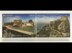 Griechenland Greece 2017 Michel Nr. 2953-54 C Europa Burgen und Schlösser