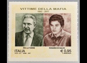 Italien Italy 2017 Michel Nr. 3976 Mafiajäger Pio la Torre und Rosario Di Salvo