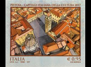Italien Italy 2017 Michel Nr. 3982 Pistoia - Kulturhauptstadt Italiens Domplatz