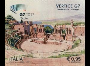 Italien Italy 2017 Michel Nr. 3983 G7-Gipfel Taormina Theater Kultur Schauspiel