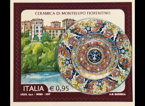 Italien Italy 2017 Michel Nr. 3988 Keramik aus Montelupo Fiorentino Villa Medici