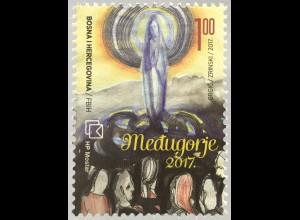 Bosnien Herzegowina Kroatische Post Mostar 2017 Nr. 456 Medugorje Maria Religion