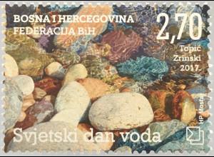 Bosnien Herzegowina Kroatische Post Mostar 2017 Nr. 449 Weltwassertag Fluß Bach