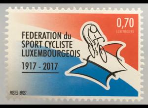 Luxemburg 2017 Michel Nr. 2132 100 Jahre Luxemburger Radsportverband Radfahren