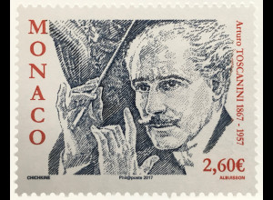 Monako Monaco 2017 Michel Nr 3353 150. Geburtstag von Arturo Toscanini Musik