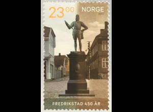 Norwegen 2017 Michel Nr. 1940 450 Jahre Friedrichstadt Friedrich II. Statue