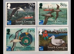 Süd Georgien und Südl. Sandwichinseln 2017 Nr. 690-93 Schutz der Albatrosse