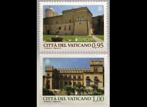 Vatikan Cittá del Vaticano 2017 Michel Nr. 1901-02 Burgen und Schlösser Gandolfo