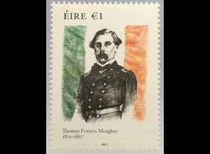 Irland 2017 Michel Nr. 2226 150. Todestag von Thomas Francis Meagher Politik