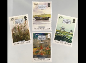 Falkland Inseln 2017 Nr, 1328-31 50. Jahrestag Falkland Journal