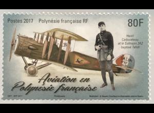 Polynesien französisch Polynesie Francaise 2017 Nr 1341 Henri Cadousteau Flieger