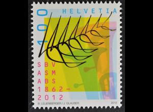 Schweiz 2012 Michel Nr. 2235 ** postfrisch, 150 Jahre Schweizer Blasmusikverband