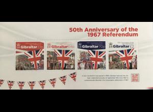 Gibraltar 2017 Block 129 50. Jahrestag des Referendums von 1967 in Gibraltar