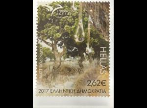 Griechenland Greece 2017 Michel Nr. 2953-54 A Euromed Bäume Flora Natur Wald