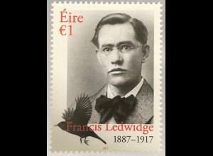 Irland 2017 Neuheit Francis Ledwige Dichter Nationalist Schriftsteller Lyrik
