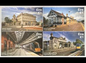 Irland 2017 Nr 2228-31 Irische Bahnhöfe Verkehr Eisenbahn Irish Railway Station
