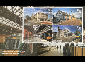 Irland 2017 Block 104 Irische Bahnhöfe Verkehr Eisenbahn Irish Railway Station