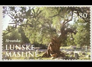 Kroatien Croatia 2017 Michel Nr. 1289 Euromed Postal Bäume des Mittelmeerraumes