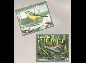 Lettland Latvia 2017 Nr. 1019-20 Einheimische Vogelarten Kleines Sumpfhuhn