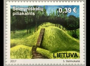 Litauen Lithuania 2017 Michel Nr. 1254 Tourismus Hügel von eimyniškėliai