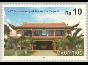 Mauritius 2017 Neuheit 175 Jahre Kwan Tee Pagoda