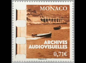 Monako Monaco 2017 Michel Nr 3360 20 Jahre Audiovisuelles Archiv von Monaco