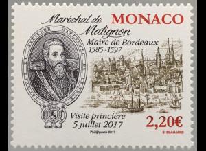 Monako Monaco 2017 Michel Nr 3358 Jacques II. de Goyon de Matignon Feldmarschall