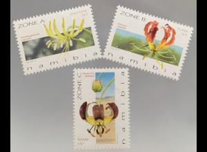 Namibia 2017 Nr. 1563-65 Pflanzen Blumen Flora Ornithoglossum calcicola