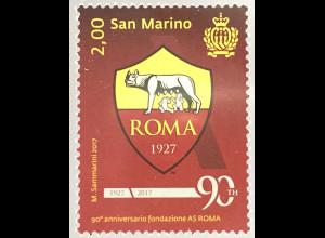 San Marino 2017 Nr. 2718 90 Jahre Fußballverein Associazione Sportiva Roma