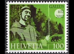 Schweiz 2012 Michel Nr. 2237 ** postfrisch, 1400. Jahre Ankunft des hl Gallus