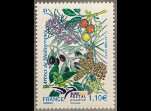 Frankreich France 2017 Michel Nr. 6790 EUROMED POSTAL Bäume des Mittelmeerraumes
