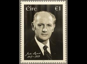 Irland 2017 Neuheit 100. Geburtstag von Jack Lynch Berühmte Person
