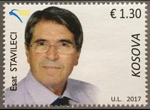 Kosovo 2017 Michel Nr. 391 Persönlichkeiten Esat Stavileci Wissenschaft Gesetz