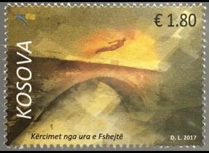 Kosovo 2017 Michel Nr. 392 Wettbewerb im Wasserspringen von der Fshejetë Brücke