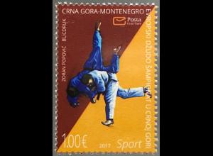 Montenegro 2017 Michel Nr. 408 Europameisterschaft Judo Sport Kampfsport