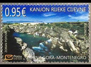 Montenegro 2017 Nr. 407 Fluss Cijevne Umweltschutz Natur Gebirge Landschaft